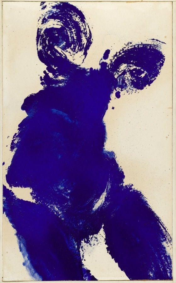 Yves Klein, Anthropometrie, 1962, oil on panel
