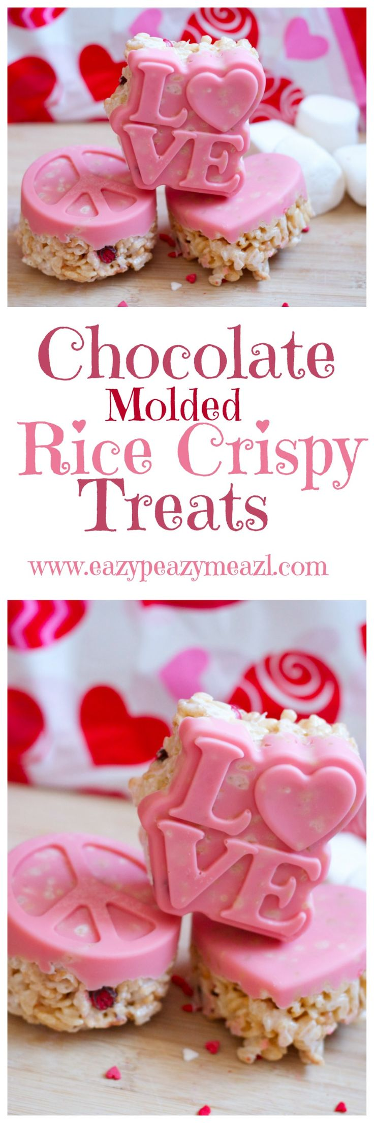 Chocolate molded rice crispy treats: An easy, fun, and beautiful treat! - Eazy Peazy Mealz