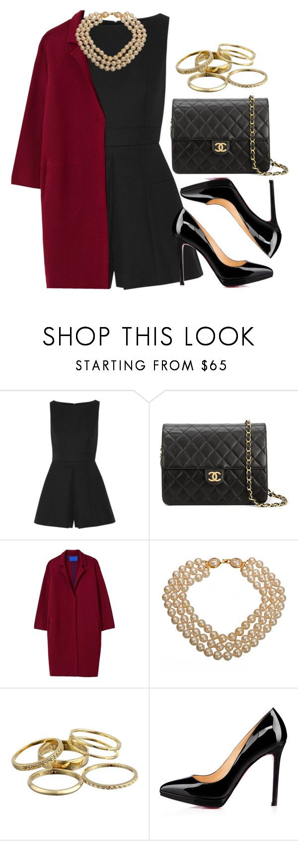 """#14059"" by vany-alvarado ❤ liked on Polyvore featuring Alexander McQueen, Chanel, Winser London, Kendra Scott and Christian Louboutin"