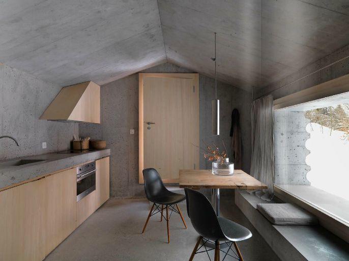 minimaliste dcore maison de carlingue march de limmobilier intrieur moderne appartement concrete minimalist minimalist cabin alp cabin