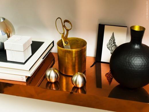 DIY Copper shelf - gör en egen fuskig kopparhylla av IKEA's LACK hylla.