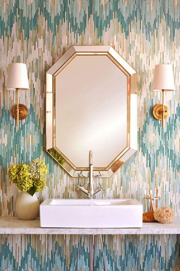 Azulejos Para Baños Color Turquesa:Ikat Bathroom