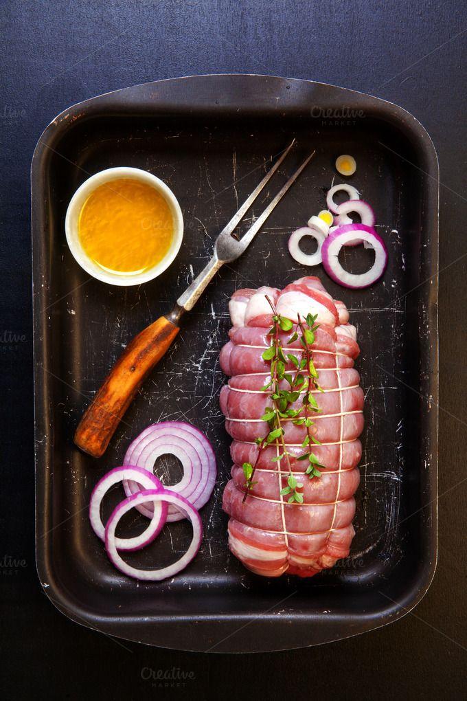 Raw roast beef  by IriGri on @creativemarket