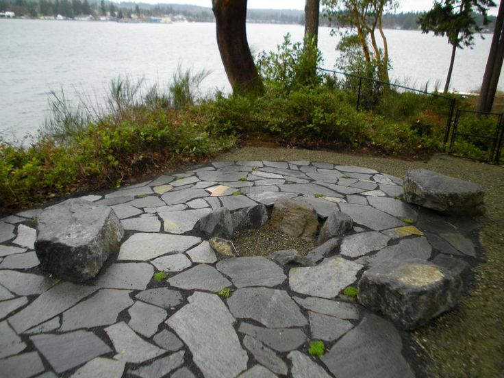 Best 25 sunken fire pits ideas on pinterest sunken for Landscaping rocks kitsap county