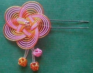 pink mizuhiki flower