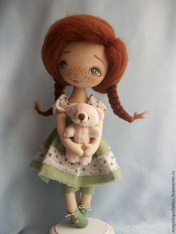 Купить Кукла Рыжее чудо - рыжий, интерьерная кукла, кукла в подарок, кукла текстильная
