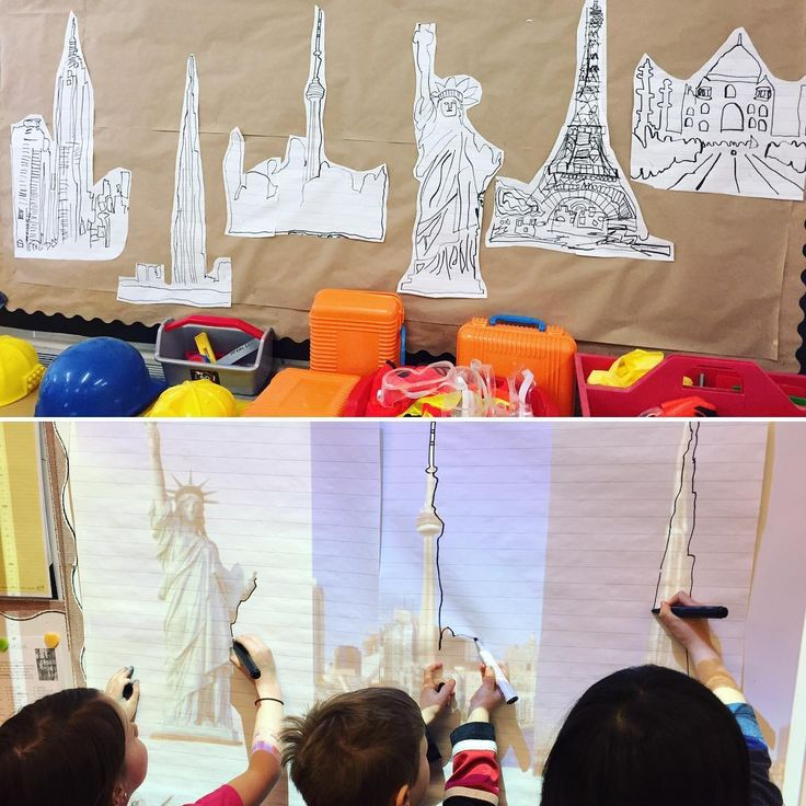 "71 Likes, 7 Comments - Laura King (@kindergartenteachertired) on Instagram: ""Co-constructing our construction zone dramatic play area, using our computer projector! Our kids…"""