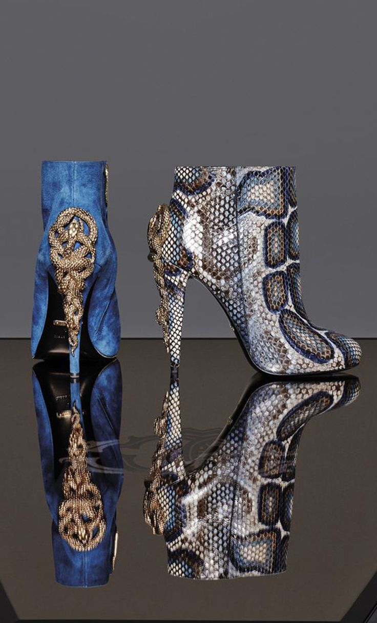 Roberto Cavalli Boots Fall 2014 #Shoes