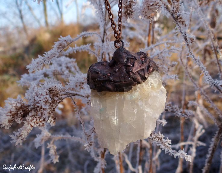 Natural raw Mountain crystal (quartz) necklace, Tiffany's winter gemstone jewelry, boho style pendant, fairy, necklet for woman, for girl by GajaArtCrafts on Etsy