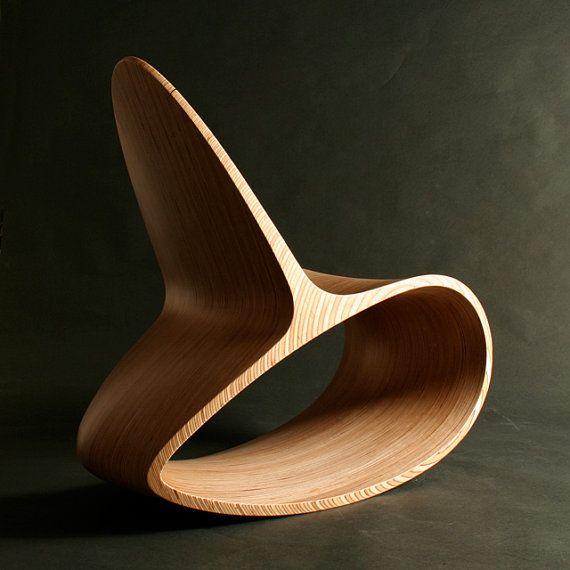 Sedia a dondolo in legno, Ocean Rocker III