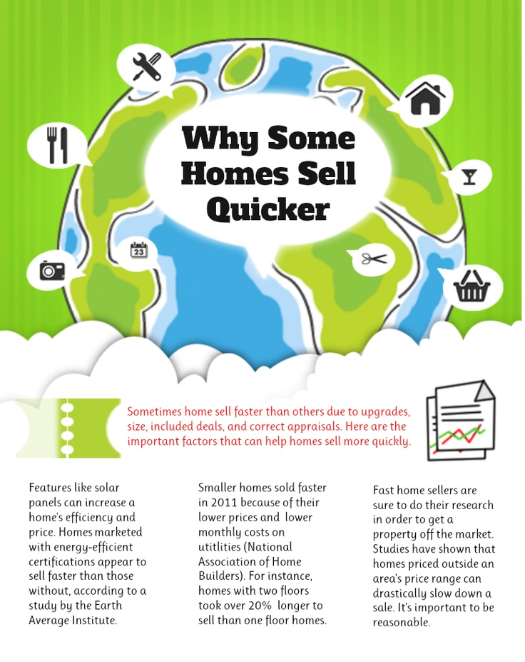 Why do some homes sell quicker? This awesome #infographic by PropertySearch.us.org tells you why!