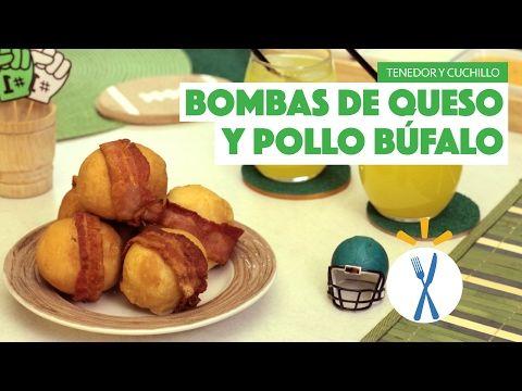 ¿Cómo preparar Bombas de Queso y Pollo Búfalo? - Cocina Fresca - YouTube