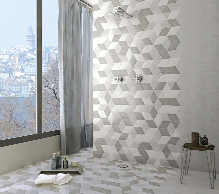 Available at cerdomustile rombo 3d tile effect cerdomus tiles in design pinterest colors Bathroom tiles design 3d