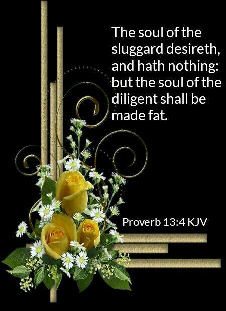 Proverbs 13:4 KJV