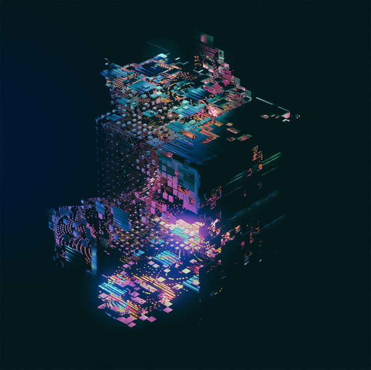 BINARY is a visual representation of procedurally generated computer-like structures.