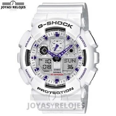 ⬆️✅ CASIO G-Shock GA-100A-7AER ✅⬆️ Sublime Modelo de la Colección de Relojes Casio PRECIO 82.84 € En exclusiva en  https://www.joyasyrelojesonline.es/producto/casio-g-shock-ga-100a-7aer-reloj-de-caballero-de-cuarzo-correa-de-resina-color-blanco-con-alarma-cronometro-luz/  ¡¡No los dejes Escapar!!
