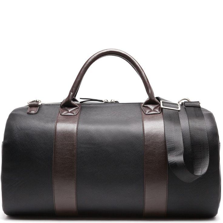 Men's black duffle bag