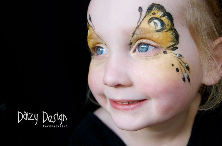 Kids� Butterfly Face-Paintings by Daisy Design