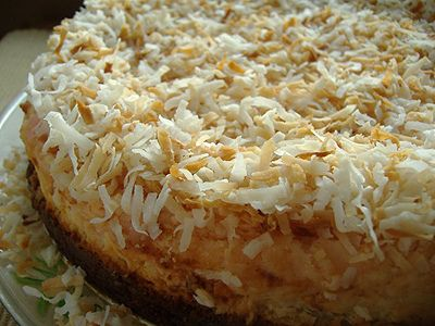 Tropical Coconut Cheesecake. Sounds as if I will be baking one of ...