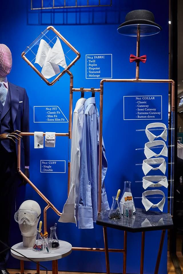 Charles Tyrwhitt window display concept- Shirts Lab by Harlequin Design
