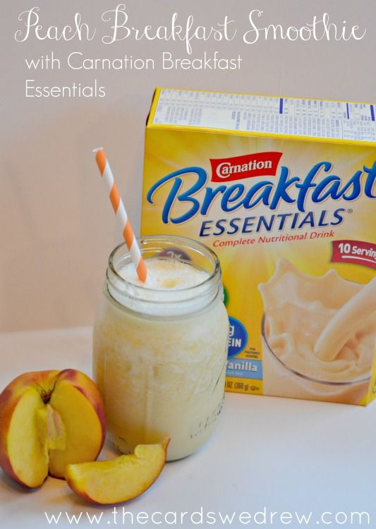 Peach Breakfast Smoothie - The Cards We Drew #BreakfastEssentials #PMedia #ad