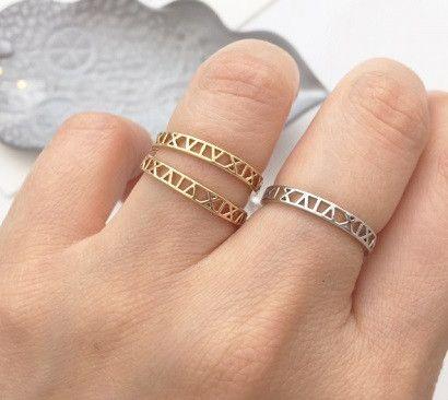 cute Roman Numerals ring