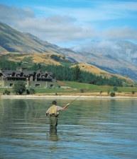 Fly fishing Lake Wakatipu