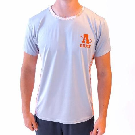 A Game Apparel Short Sleeve Gray with Orange