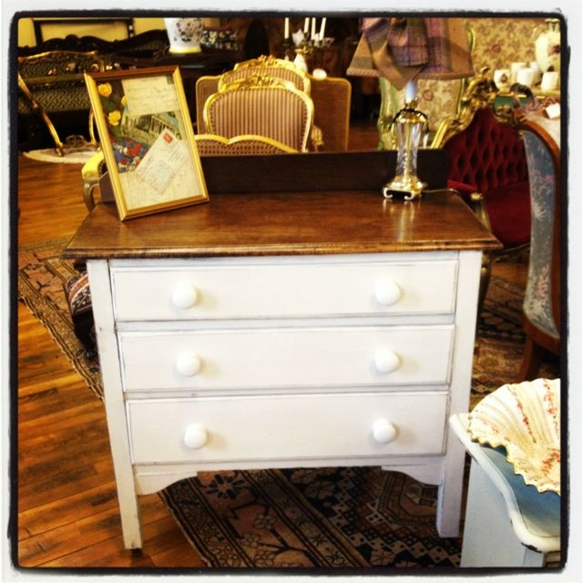 Upcycled French bathroom cabinet available at Rose & Lee Vintage Living x