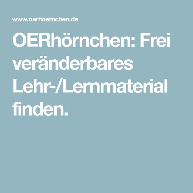 OERhörnchen: Frei veränderbares Lehr-/Lernmaterial finden.