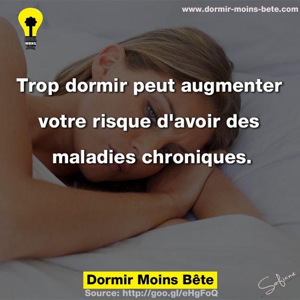 Trop dormir peut augmenter votre risque d'avoir des maladies chroniques.