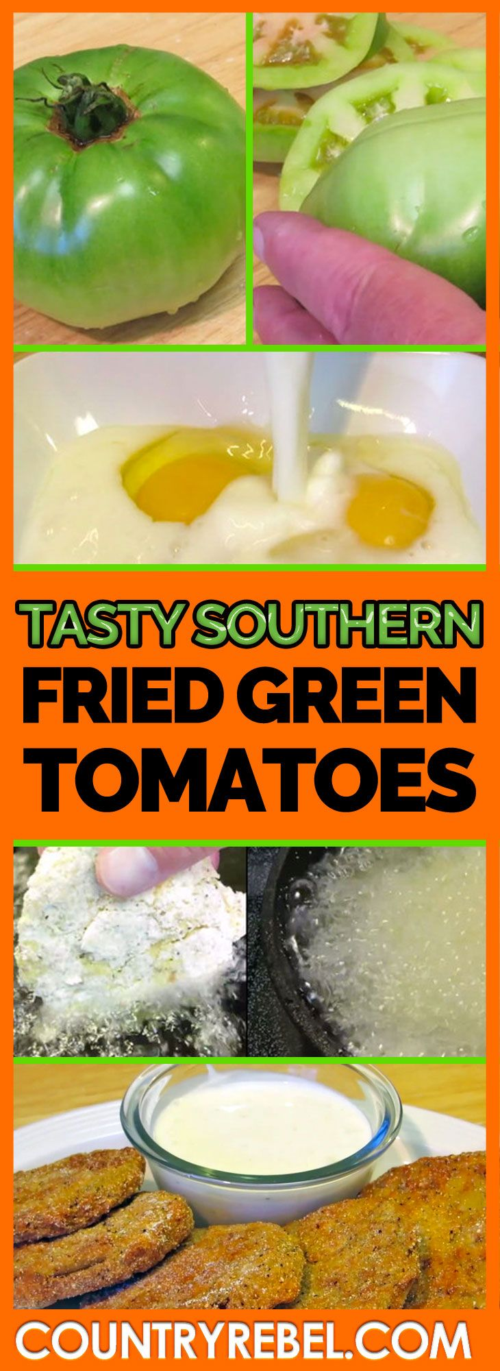 Easy Fried Green Tomatoes Recipe — Dishmaps