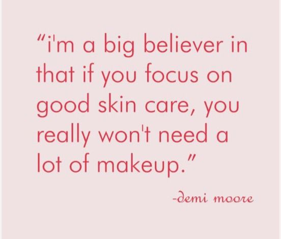 Exactly what my mom used to tell me! Thankful I found Rodan + Fields!  I am make-up free!  Well, a little lip gloss & mascara, and out the door I go!   www.malinda.myrandf.com