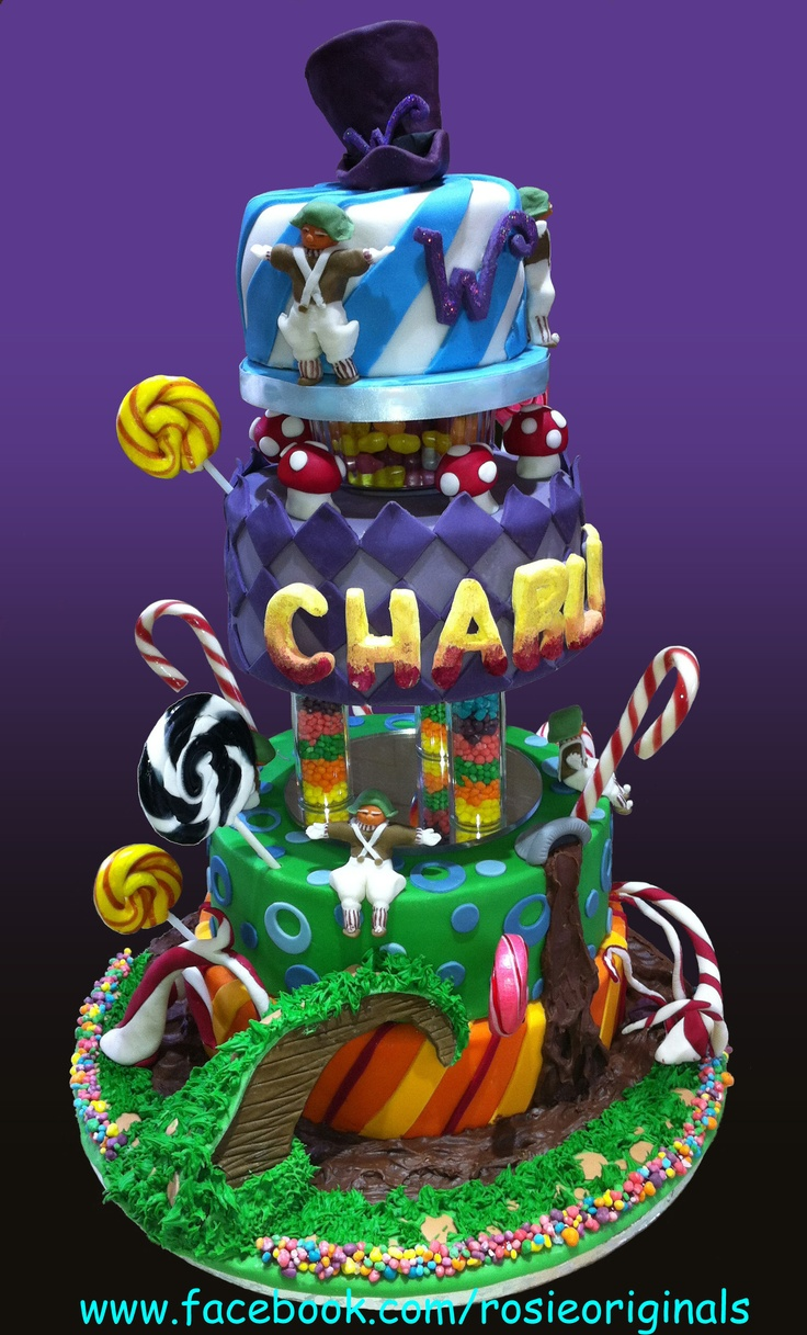 Charlie and The Chocolate Factory. a great book, great films, and now, a great cake!