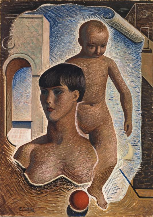 """Mario Tozzi - Souvenir d'enfance (Madre e figlio), 1929 """"La Magnifica Ossessione"""" www.mart.tn.it/magnificaossessione"""