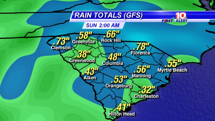 Hope you are well this Friday!  Here are the expected Saturday rain totals.