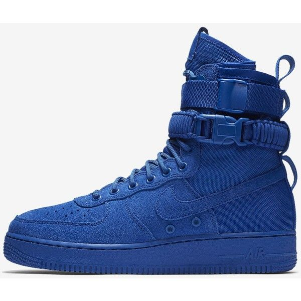 Nike SF Air Force 1 Men's Boot. Nike.com ($100) ❤ liked on Polyvore featuring men's fashion, men's shoes, men's boots, mens shoes, mens boots, nike mens boots and nike mens shoes