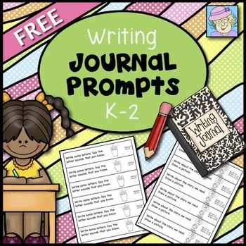 NEWLY REVISED FREEBIE 6/16!!! This set of writing journal prompts is a sample of my journal prompts for kindergarten, first and second grade.  The full sets cover ALL of the Common Core Standards* for language arts in each grade!  In this sample set, there are 5 or more pages of prompts for each grade level.