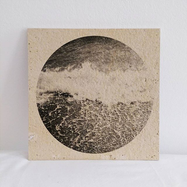 Waves Reaching The Shore - Liquid Emulsion Darkroom Print on Stone