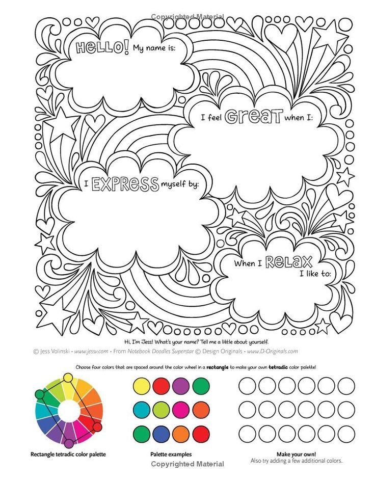 notebook doodles superstar  coloring  u0026 activity book  jess volinski  9781497202481  amazon com