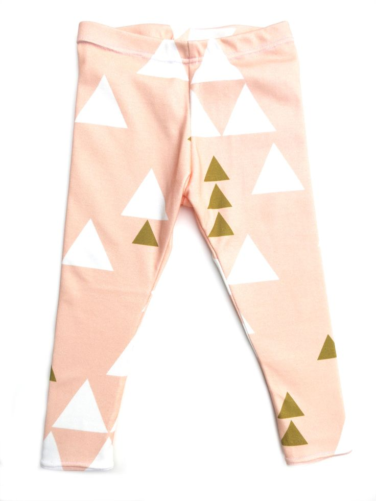 Fall 2014 Collection: Blush Triangle Leggings for your baby or toddler from www.brikhouse.com