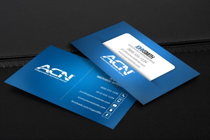 Make A Great First Impression With These Business Cards Just For Acn Business Owners Mlm Acn Print Free Business Cards Printing Business Cards Contact Card
