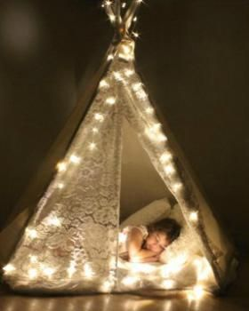 Twinkle Twinkle Kids Teepee - would be great for an indoor cubby or sleepover party - from finleeandme.com.au
