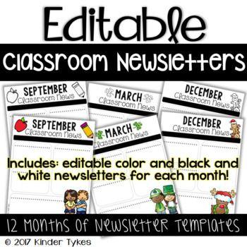 Beste Ideen Over Monthly Newsletter Template Op