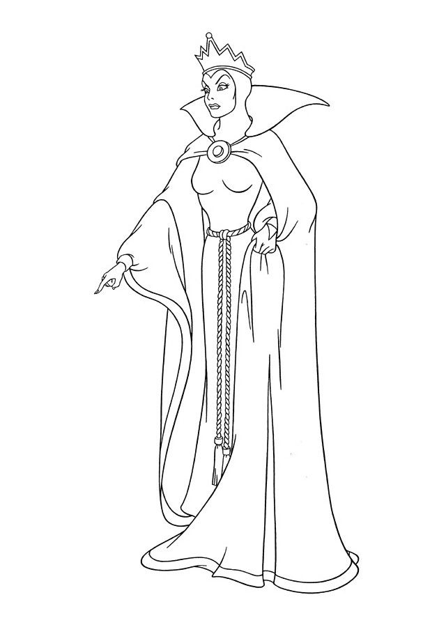 Digital Drawing Of The Evil Queen Snow White Coloring Pages Witch Coloring Pages Disney Coloring Pages