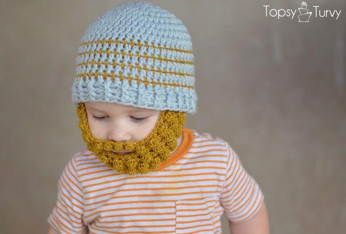 Crochet Striped Beanie Pattern- multiple sizes Bobble ...
