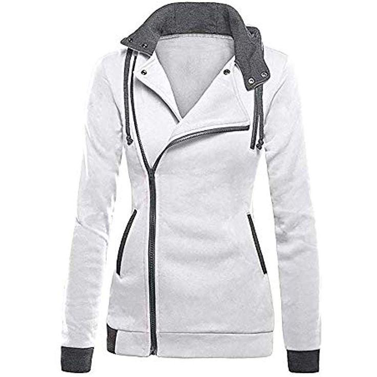 Da Donna Casual Giacca Sportiva Running Melange Knit Fleece Felpa con Cappuccio Zip