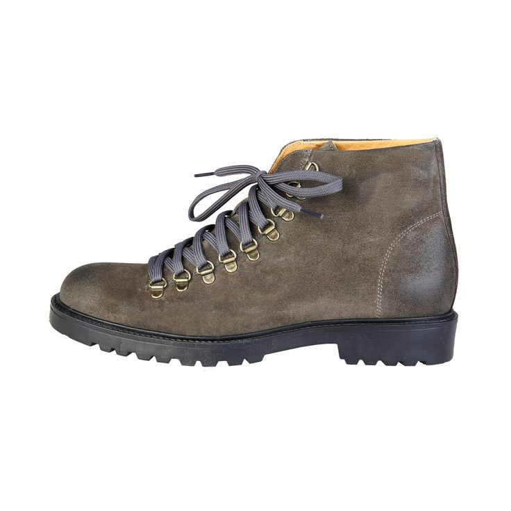 FERDINANDO - Made In Italia - Suede Lace Up Hiking Boots for Men