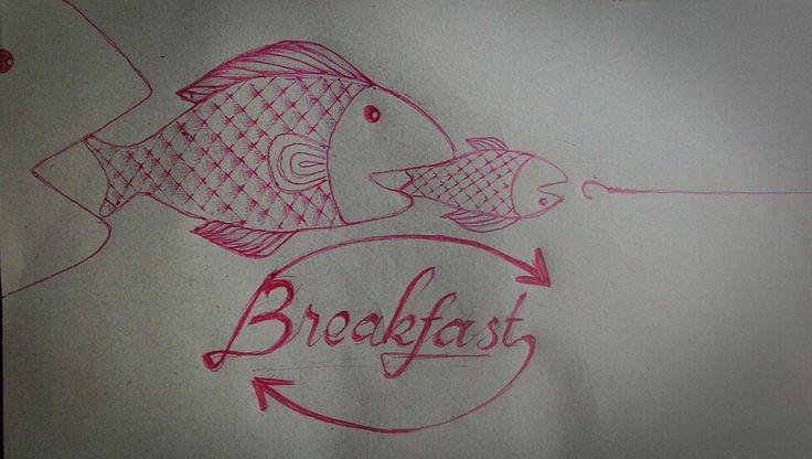 Political like Breakfast Pen on paper A5