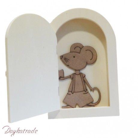 Decora esta original puerta con el ratoncito Pérez, para que tus peques dejen sus dientes... #manualidades #diy #handmade #crafts #decoracion